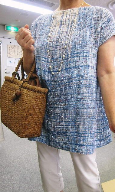 Tunic from SAORI Yokohama Blog - love the style & colours