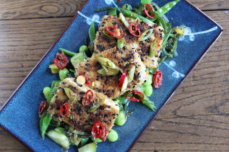 ~ Gebakken tofu met een Japanse salade ~