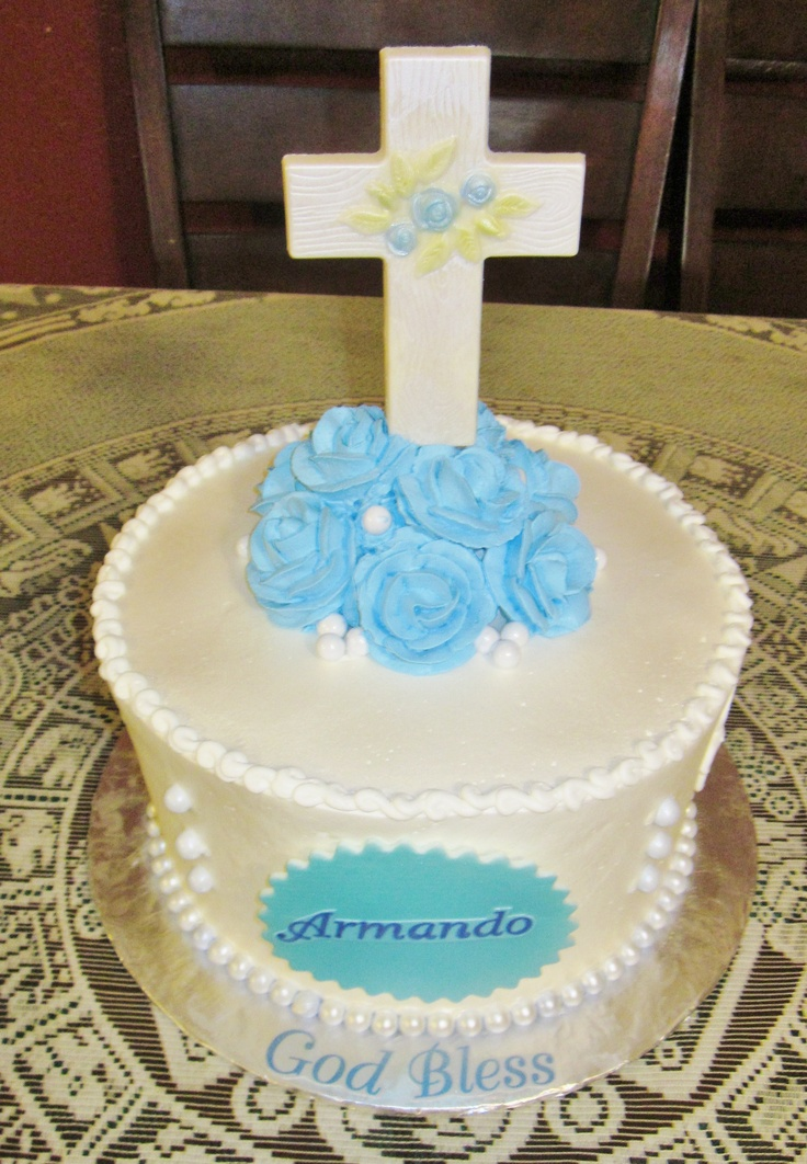 1st Communion For Boy 9 Quot Round Frosted In Pastry Pride