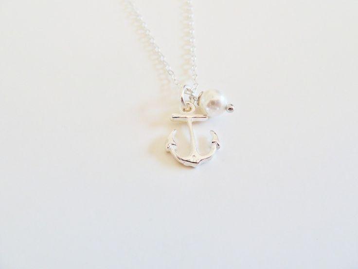 sailor: Anker  Silber Kette mit Perle von Serafina auf DaWanda.com