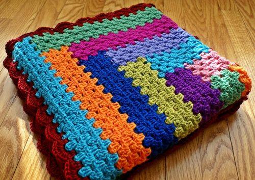 Granny log cabin blanket crochet stuff pinterest log for Log cabin blanket