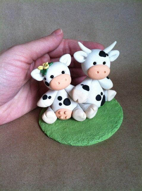 Cow love Wedding Cake Topper