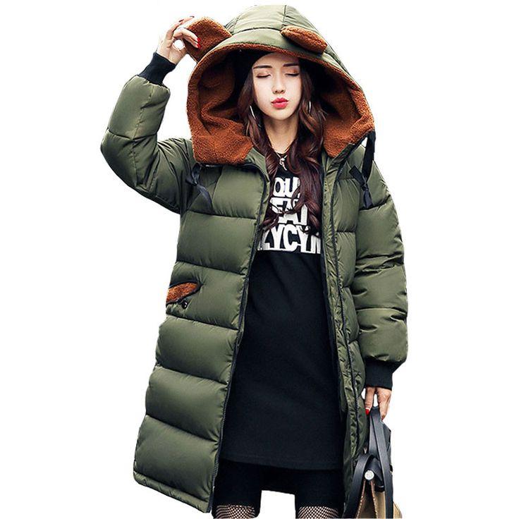 Women's Winter Jacket 2017 New Medium-long Down Cotton Female Parkas Plus Size Winter Coat Women Slim Ladies Jackets And Coats #Affiliate
