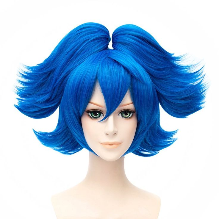 HH Building Touken Ranbu Online Game Cosplay Costume Wig Sayo Samonji Lolita Short Curly Clip on Ponytails Wig Hiar (Marine Blue) * This is an Amazon Affiliate link. Continue to the product at the image link.