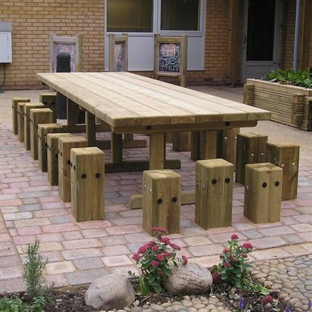 Our wooden Captains Table provides an area for children to learn in an outdoor environment and can seat up to 22 children. Perfect for nautical themed playgrounds.