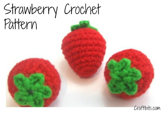 Strawberry Crochet Pattern — craftbits.com