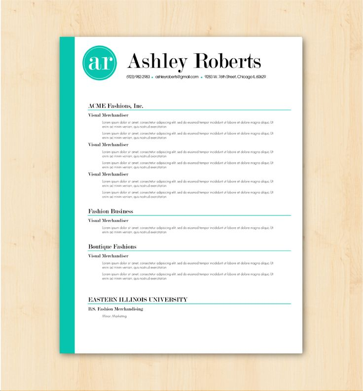looking for a professional resume template the ashley roberts design is for you the free creative resume - Free Creative Resume Templates Word