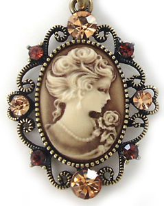 Vintage Cameo Jewelry | Vintage Antique Look Cameo Charm Necklace Jewelry N509 | eBay