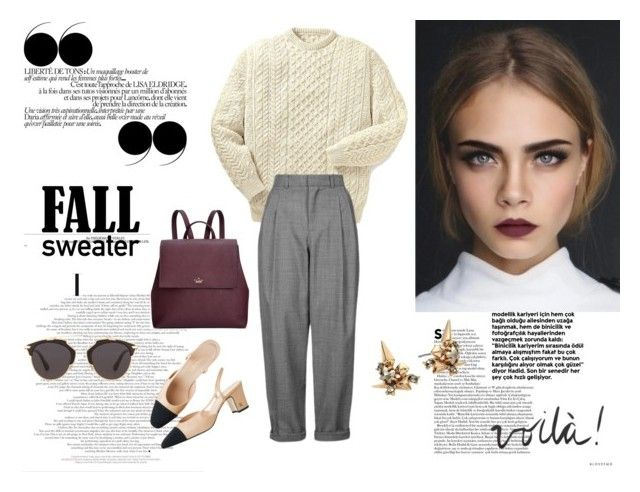 Sweater Weather by justy-na on Polyvore featuring moda, Topshop, Kate Spade, Alexis Bittar, Christian Dior and Joie
