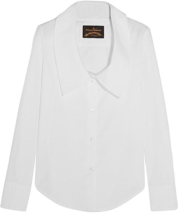 Pin for Later: In diesem Frühjahr wird die weiße Bluse vom Büro-Klassiker zum echten Hingucker Dryad Hemd aus Baumwoll-Popeline mit übergroßem Kragen (255 €)
