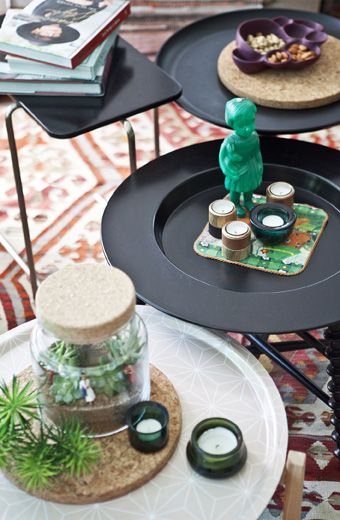 Start a collection of mini coffee tables so you can move them around whenever you want   #IKEAIDEAS