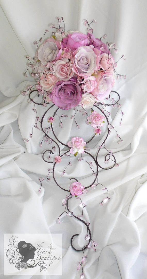 Artificial Rose & Crystal Bouquet Venice