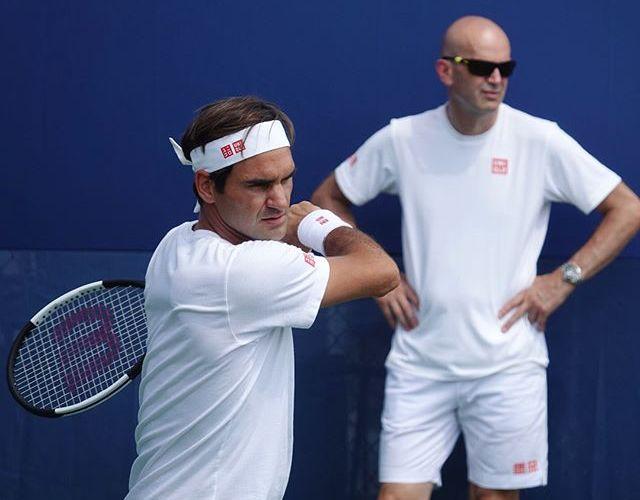Roger Federer Et Son Coach Ivan Masters 1000 Cincinnati 13 Aout 2018 Roger Federer Rogers Pro Tennis