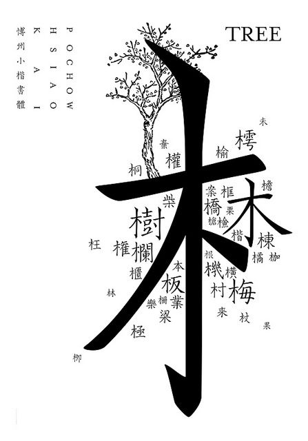 TREE 木 - Chinese Typography by 7906 ART (Eonway) 應永會, via Flickr