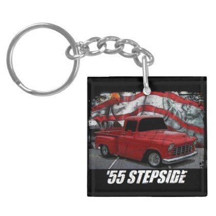 1955 Chevy Stepside Pickup Keychain - classic gifts gift ideas diy custom unique
