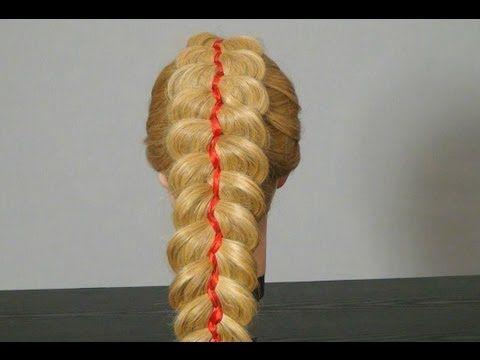 Коса из 5 прядей с лентами. Плетем косы. 5 strand braid with ribbon - YouTube