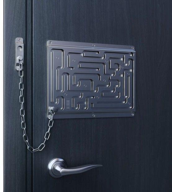 Creative door chain lock