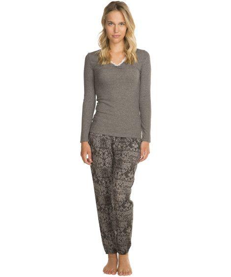 Jersey pyjamasbukser - Underdele - Nattøj
