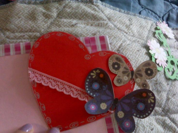 tarjeta de corazones