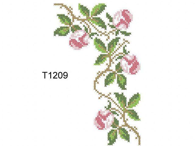"""Roses in the Cross Stitch Technique"" | Machine embroidery design"