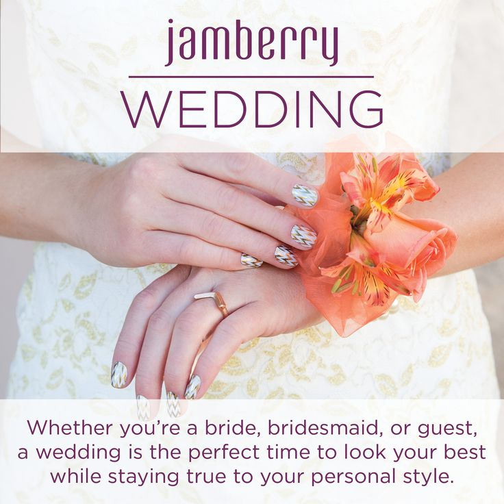 Want amazing nails that will even last through the honeymoon? ;) Then Jamberry is for you! When I got my nails done the chipped on my wedding day! Luckily it was after I took the photos of my ring. However, I was really sad that they did not last longer! Too bad I didn't know about Jamberry then.