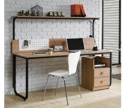 北欧实木书桌欧式宜家简约复古办公桌写字台家用台式电脑桌特价