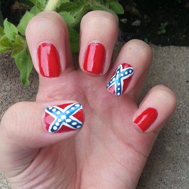 Southern Flag Nails