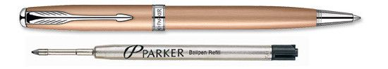 Parker Sonnet Rose Gold CT With Free Refill Ballpoint Pen