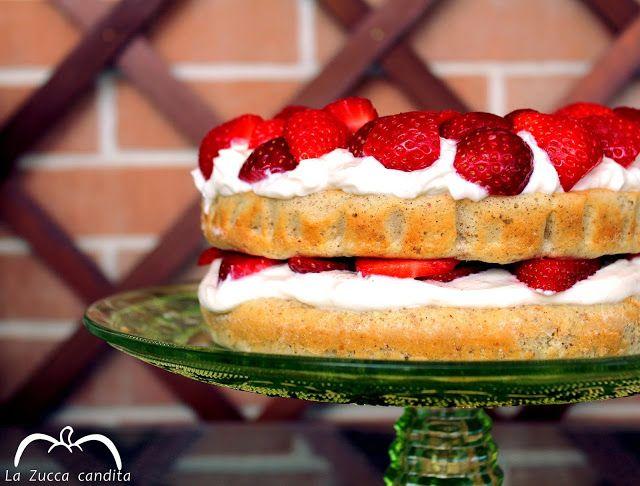 La Zucca candita: Torta senza zucchero con fragole e ricotta