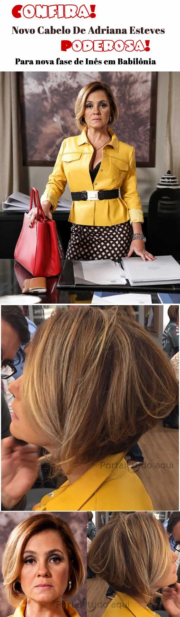 Detalhes do corte de cabelo de Adriana Esteves para a novela Babilônia. Tá linda!
