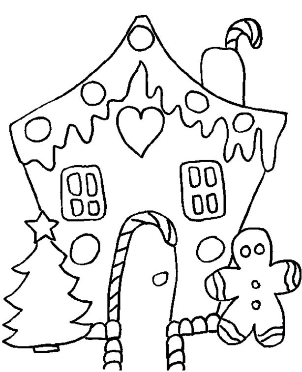 Free Printable Christmas Coloring Pages Another Picture And Gallery About Gingerbread House Mickey
