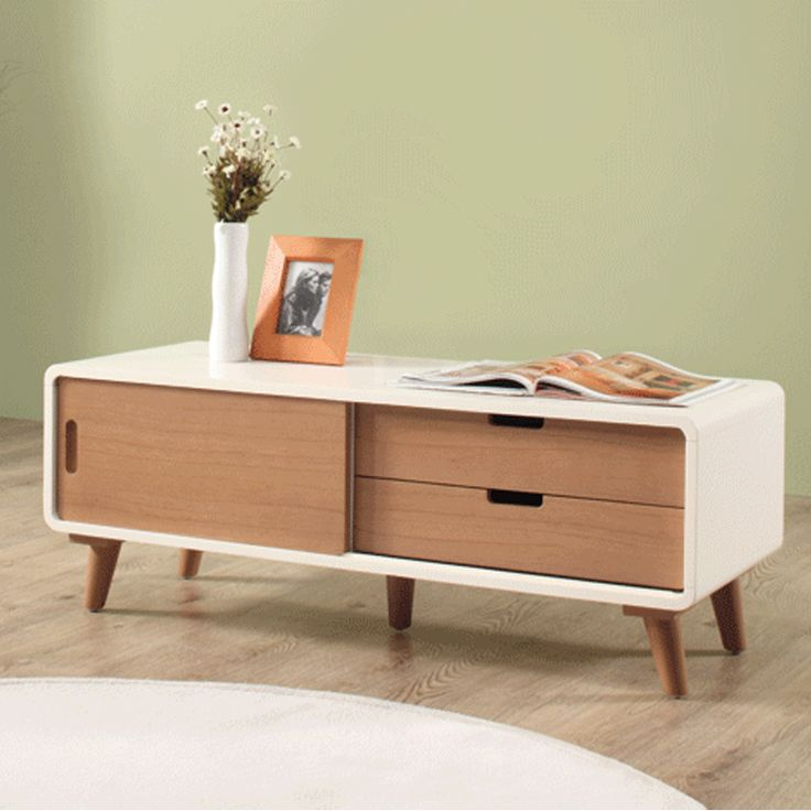 Euro medium tv cabinet with sliding door and 2 drawers