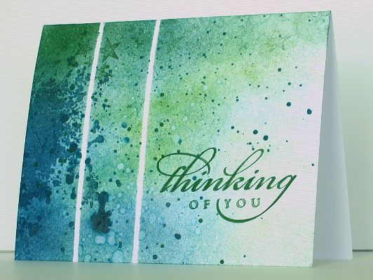 Sponged and speckled by Heather T - Cards and Paper Crafts at Splitcoaststampers