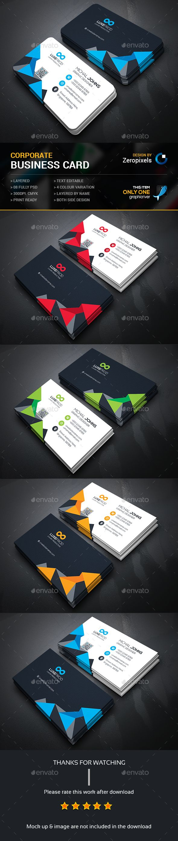 237 best business card design images on pinterest business card buy creative business card by zeropixels on graphicriver features easy customizable and editable business card in with bleed cmyk color design in 300 dpi reheart Image collections