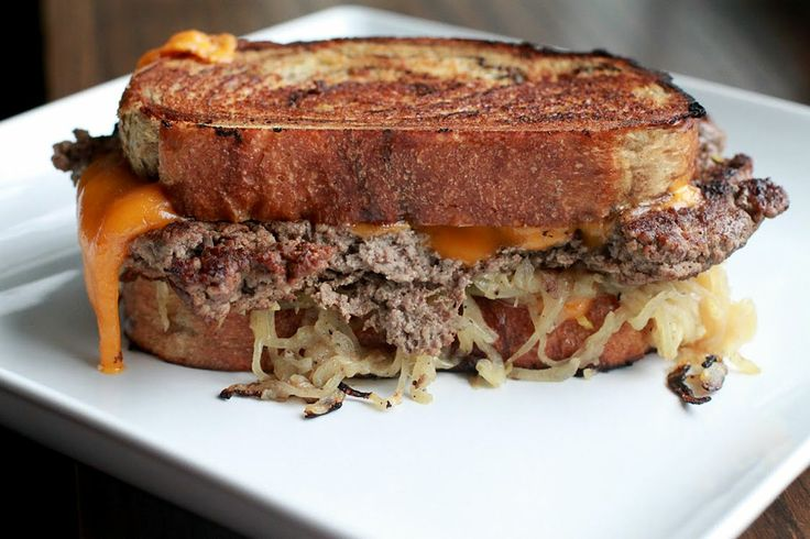 Patty Melt - The classic cheeseburger known as the patty melt. Hands ...