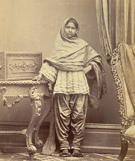 Portrait of a Hindu girl in Karachi in salwar kameez. british library   Tumblr