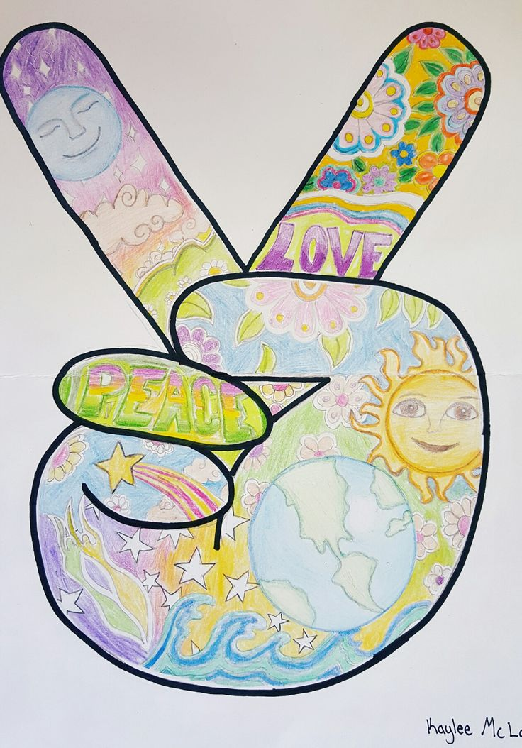 Peace poster 7th grade Lowell Middle School Art EdCentral