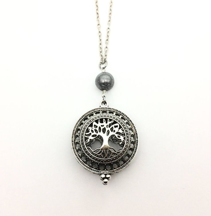 Excited to share the latest addition to my shop: Tree of Life Diffuser Necklace, Essential Oil Diffusing Necklace, Young Living Aromatherapy Locket Necklace #etsy #jewelry #necklace #plantstrees #birthday