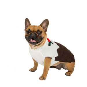 Image for Christmas Dog Pudding Jumper Medium from Pets At Home