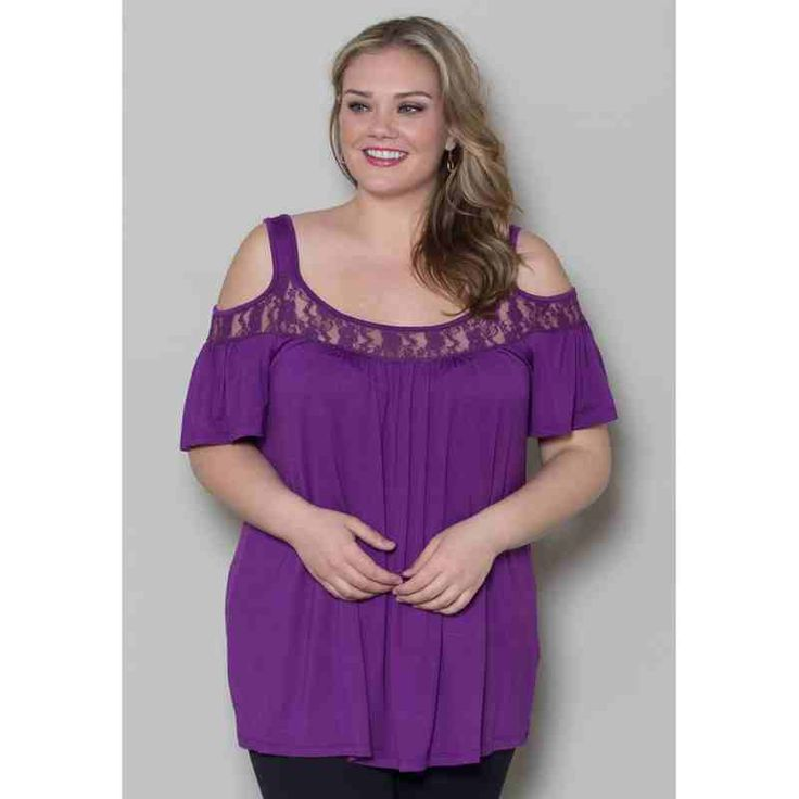 PRE-ORDER - Stacy Cold Shoulder Top (Eggplant) $44.00 http://www.curvyclothing.com.au/index.php?route=product/product&path=95_98&product_id=7397