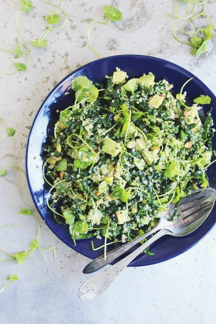 super green quinoa salad.