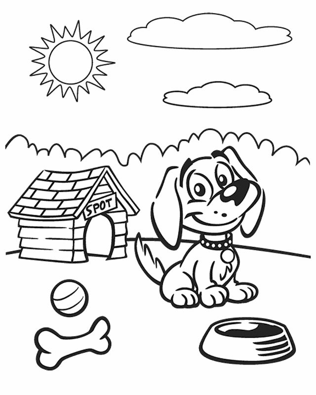 cartoon coloring pages dog on a sunny day kids colouringcolouring sheetsfree printable - Free Printable Colouring Pages For Toddlers