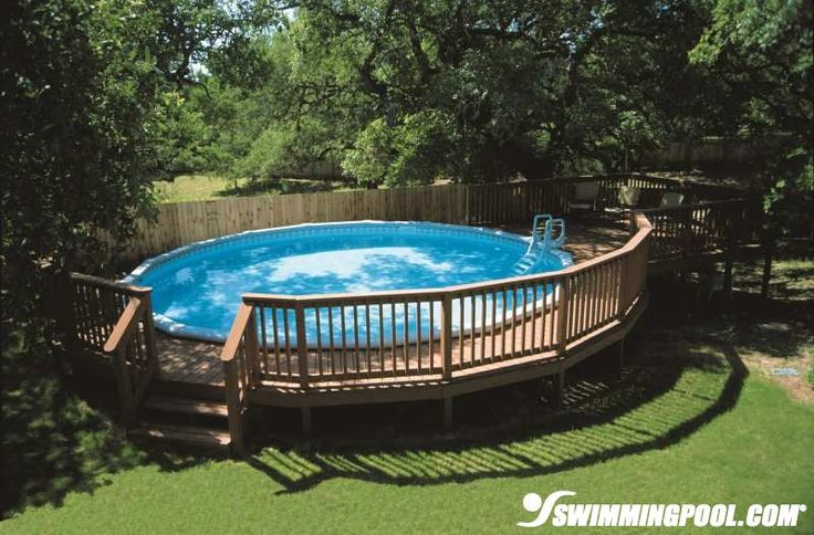 Round Deck for An Above Ground Pool