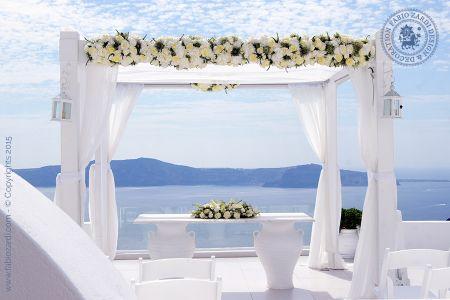 Wedding of Danielle & Steven, Santorini, 1st of July 2015