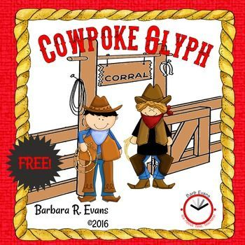 This Cowpoke Glyph is a fun craftivity with educational impact and it's FREE!