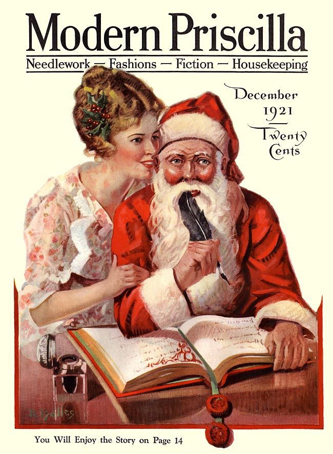 The charming cover of Modern Priscilla magazine, December 1921.