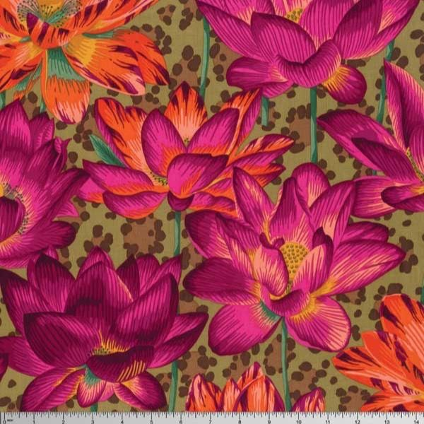 Westminster Rowan Kaffe Fassett Spring 2016 Philip Jacobs Ochre Leopard Lotus | Fabric