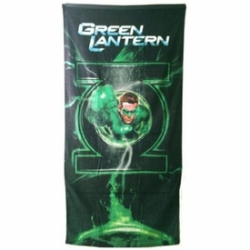 Bring the power of the Green Lantern Corps with you to the pool or shower with this officially licensed Green Lantern beach towel, based on the film starring Ryan Reynolds! Measures a generous 30'' x 60''.