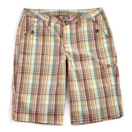 Riders - Women's Plaid Bermuda Shorts, Yellow