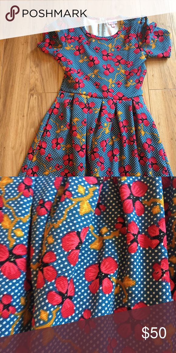 Cherry blossom Amelia Lularoe Worn only once likennew size small LuLaRoe Dresses